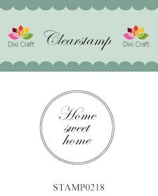 Dixi Craft - Clearstamp - Home sweet home - STAMP0218