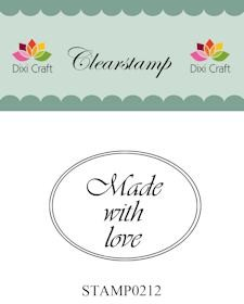 Dixi Craft - Clearstamp - Made with love - STAMP0212