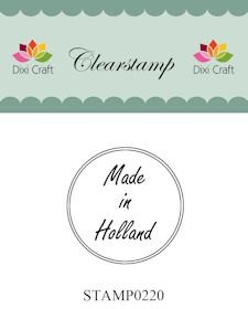 Dixi Craft - Clearstamp - Made in Holland - STAMP0220