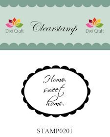 Dixi Craft - Clearstamp - Home sweet home - STAMP0201