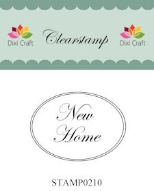 Dixi Craft - Clearstamp - New Home - STAMP0210