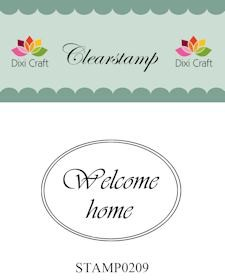 Dixi Craft - Clearstamp - Welcome home - STAMP0209
