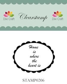 Dixi Craft - Clearstamp - Home is where the heart is - STAMP0206