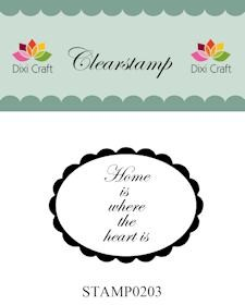 Dixi Craft - Clearstamp - Home is where the heart is - STAMP0203
