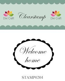 Dixi Craft - Clearstamp - Welcome home - STAMP0204