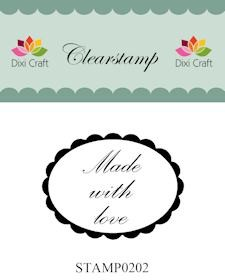 Dixi Craft - Clearstamp - Made with love - STAMP0202