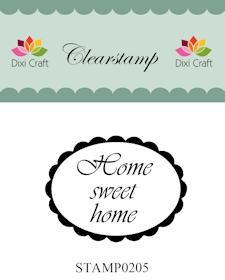 Dixi Craft - Clearstamp - Home sweet home - STAMP0205
