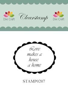 Dixi Craft - Clearstamp - Love makes a house a home - STAMP0207