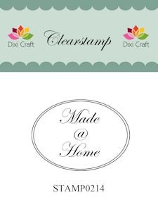 Dixi Craft - Clearstamp - Made @ Home - STAMP0214