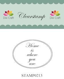 Dixi Craft - Clearstamp - Home is where you are - STAMP0213