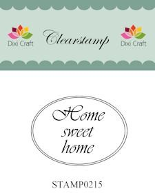 Dixi Craft - Clearstamp - Home sweet home - STAMP0215