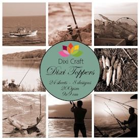 Dixi Craft - Paperpack - Vintage Fishing Sepia - ET0205