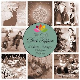 Dixi Craft - Paperpack - Vintage Christmas Sepia - ET0212