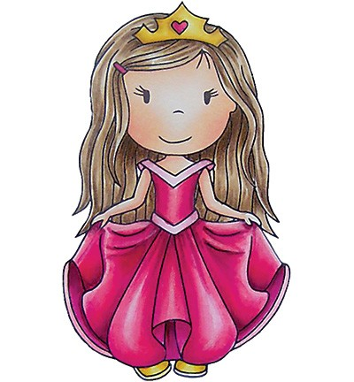 Paper Nested Dolls - Cling Stamp - Princess Avery - 70043