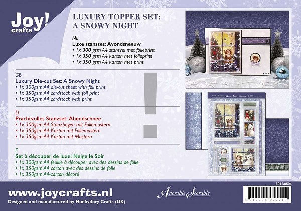 Joy! crafts - Kaartenpakket - A Snowy Night - 6012/0504