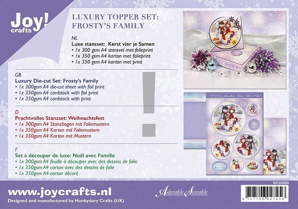 Joy! crafts - Kaartenpakket - Froaty`s Family Christmas - 6012/0505