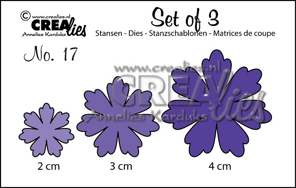 Crealies - Die - Set of 3 - Flowers - No. 17