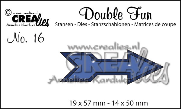 Crealies - Die - Double Fun - No. 16