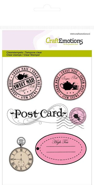 CraftEmotions - Clearstamp - Stamps and Label - 130501/1066