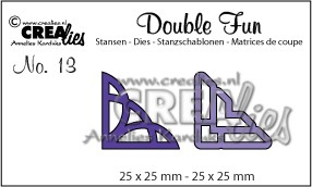 Crealies - Die - Double Fun - No. 13