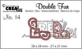 Crealies - Die - Double Fun - No. 14