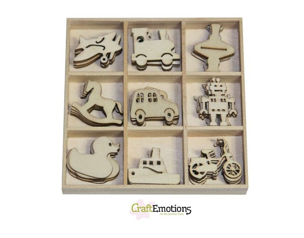 CraftEmotions - Wooden Ornaments - Toys - 811500/0222