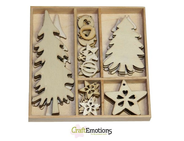CraftEmotions - Wooden Ornaments - Trees and Decorations - 811500/0207