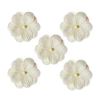 ScrapBerry`s - Mulberry Paper Flowers: Pansy White - SCB300406