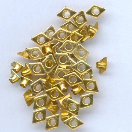 Hobby & Crafting Fun - Eyelets - Diamond: Goud - 12043-4341