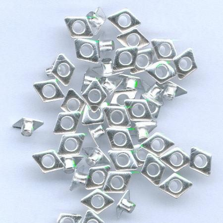 Hobby & Crafting Fun - Eyelets - Diamond: Zilver - 12043-4342