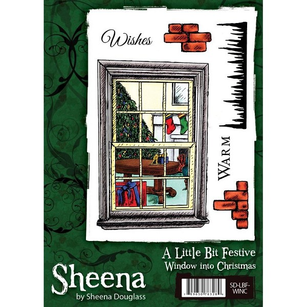 Sheena Douglass - Cling Stamp - A Little Bit Festive - Window into Christmas - SD-LBF-WINC