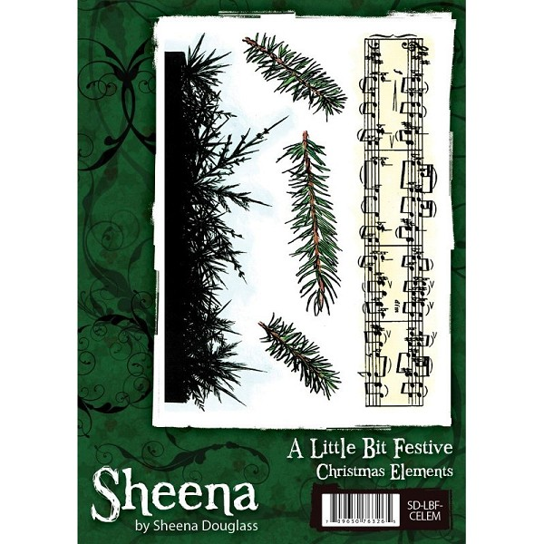 Sheena Douglass - Cling Stamp - A Little Bit Festive - Christmas Elements - SD-LBF-CELEM