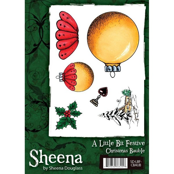 Sheena Douglass - Cling Stamp - A Little Bit Festive - Christmas Bauble - SD-LBF-CBAUB