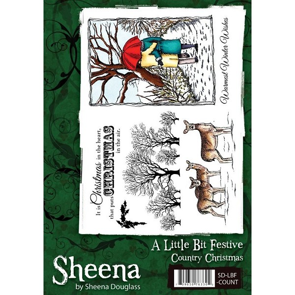Sheena Douglass - Cling Stamp - A Little Bit Festive - Country Christmas - SD-LBF-COUNT