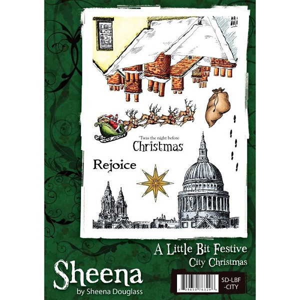 Sheena Douglass - Cling Stamp - A Little Bit Festive - City Christmas - SD-LBF-CITY