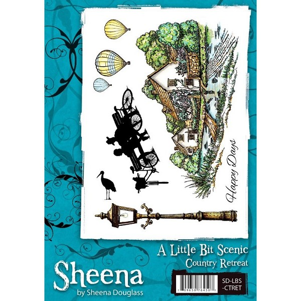 Sheena Douglass - Cling Stamp - A Little Bit Scenic - Country Retreat - SD-LBS-CTRET