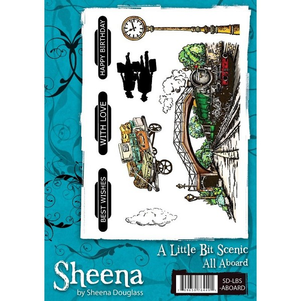 Sheena Douglass - Cling Stamp - A Little Bit Scenic - All Aboard - SD-LBS-ABOARD