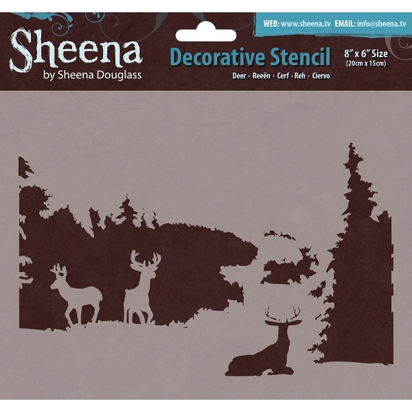 Sheena - Decorative Stencil - Deer - SD-STEN-DEER