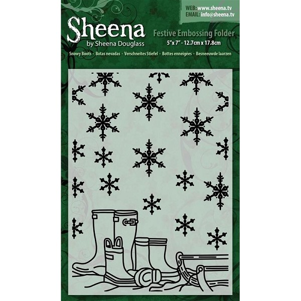 Sheena Douglass - Embossingfolder - Snowy Boots - SD-XEF-SBOOT