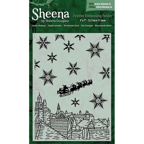 Sheena Douglass - Embossingfolder - Snowy Rooftops - SD-XEF-SROOF