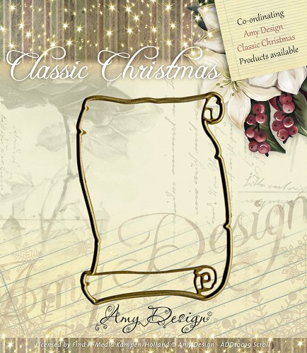 Amy Design - Die - Classic Christmas - Scroll - ADD10019