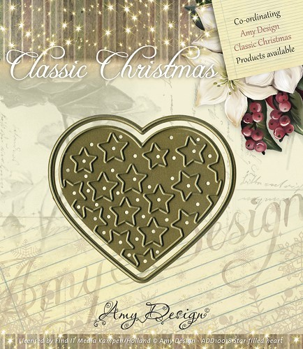 Amy Design - Die - Classic Christmas - Star-filled heart - ADD10018