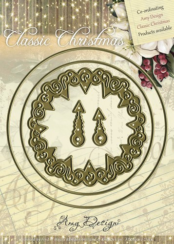 Amy Design - Die - Classic Christmas - Clock - ADD10017