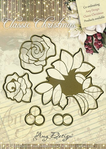 Amy Design - Die - Classic Christmas - Roses - ADD10016