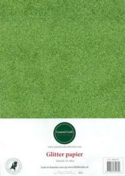 Central Craft Collection - Glitterpapier: Groen - 280-012