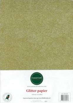 Central Craft Collection - Glitterpapier: Geelgroen - 280-004