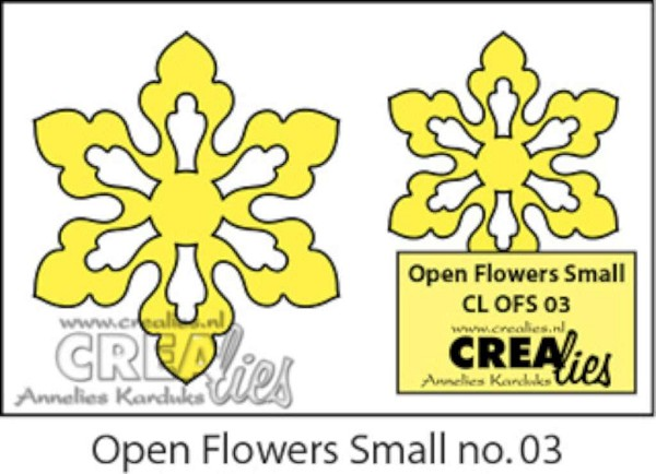 Crealies - Die - Duo Dies - Open Flower - Small - No. 03