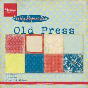 Marianne Design - Paperpack - Pretty Papers - Old Press - PK9120