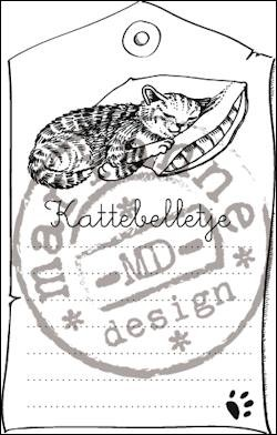 Marianne Design - Clearstamp - Kattebelletje - CS0915