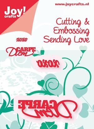 Joy! crafts - Noor! Design - Die - Sending Love - xoxo + Carpe Diem